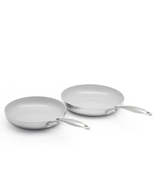 "GreenPan Venice Pro 10"" & 12"" Ceramic Non-Stick Fry Pan Set"