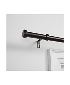 "Topper Outdoor Curtain Rod and Finial Set, 84""-160"""