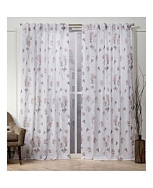 "Nicole Miller La Petite Fleur Floral Cotton Hidden Tab Top 50"" X 96"" Curtain Panel Pair"
