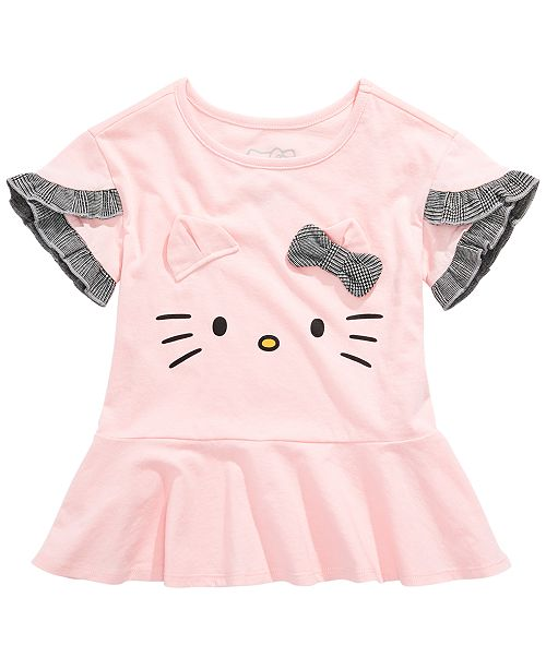 Hello Kitty Toddler Girls 3D Ruffled Top