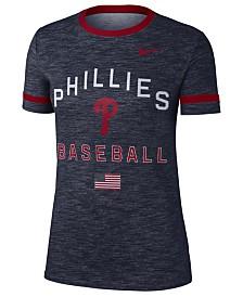Nike Women's Philadelphia Phillies Slub Crew Ringer T-Shirt