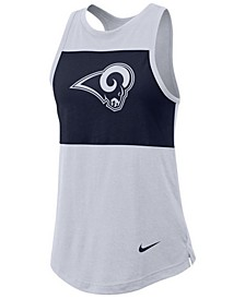 Women's Los Angeles Rams Racerback Colorblock Tank