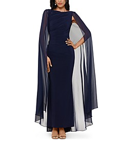Chiffon Cape Gown