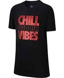 Nike Big Boys Chill Swoosh Vibes Graphic T-Shirt