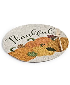 Thankful Bunch Braided Round Placemat