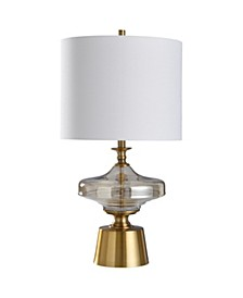 Chatham 29in Plated Glass Body and Metal Table Lamp