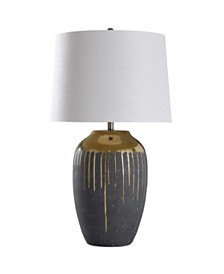 Stylecraft Marloe Gold 35in Ceramic Base Table Lamp