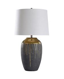 Stylecraft Marloe Gold 35in Ceramic Base Table Lamp