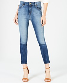 Kut from the Kloth Meghan High-Rise Ankle Cigarette-Leg Jeans