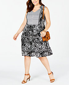 Style & Co Plus Size Peasant Dress, Created for Macy's