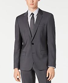 HUGO By Hugo Boss Men's Slim-Fit Gray Sharkskin Suit Separate Jacket