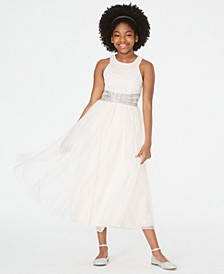 Big Girls Beaded-Waist Maxi Dress