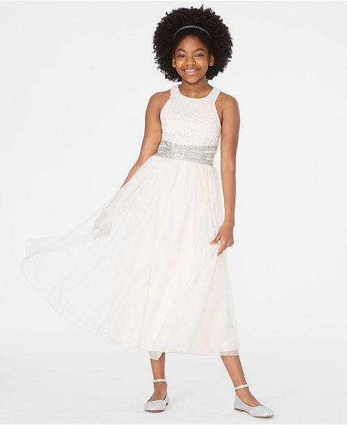 Speechless Big Girls Beaded-Waist Maxi Dress