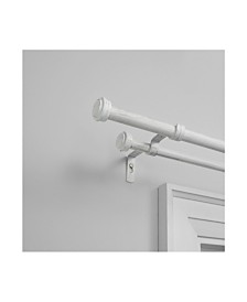 "Exclusive Home Topper Double Curtain Rod and Finial Set, 66""-120"""