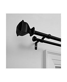 """Napoleon Double Curtain Rod and Finial Set, 66""""-120"""""""
