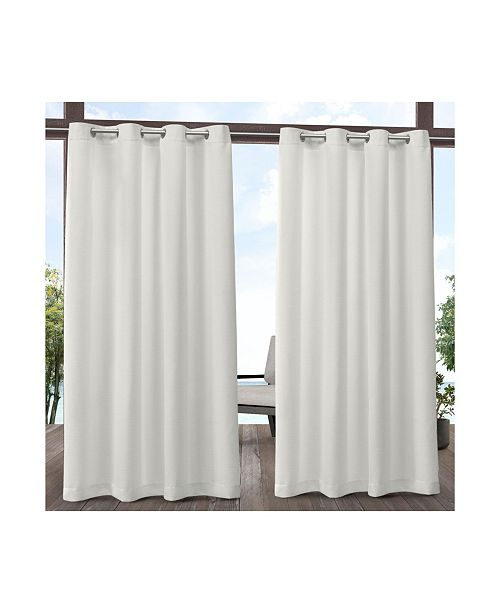 "Exclusive Home Delano Heavyweight Textured Indoor/Outdoor Grommet Top 54"" X 84"" Curtain Panel Pair"