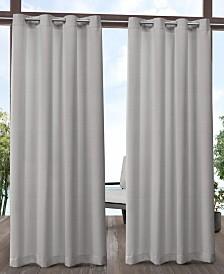 """Exclusive Home Aztec Indoor/Outdoor Grommet Top 54"""" X 96"""" Curtain Panel Pair"""