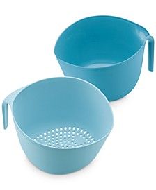 Pantryware Mix & Strain Mixing Bowls, 2-Pc. Set, Twilight Teal