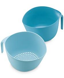 Pantryware Mix & Strain Mixing Bowls, 2-Pc. Set, Twilight Teal