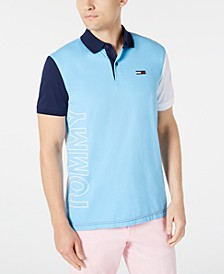 Men's Grant Custom-Fit Colorblocked Logo Polo