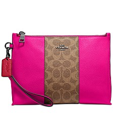 COACH Signature Colorblock Wristlet