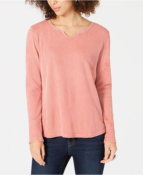 Style & Co Petite Cotton Thermal Top, Created for Macy's
