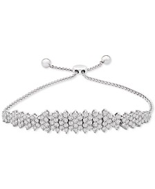 Diamond Cluster Bolo Bracelet (3 ct. t.w.) in 14k White Gold