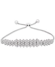 Diamond Cluster Bolo Bracelet (3 ct. t.w.) in 14k White Gold