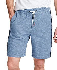 Men's Blue Sail Track-Stripe French Terry Shorts, Created for Macy's
