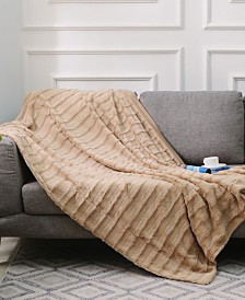 """Cheer Collection Ultra Soft Faux Fur to Microplush 50"""" x 60"""" Reversible Cozy Warm Throw Blanket"""