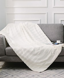 """Cheer Collection Ultra Soft Faux Fur to Microplush 60"""" x 70"""" Reversible Cozy Warm Throw Blanket"""