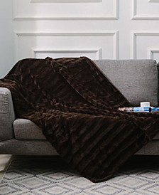 "Ultra Soft Faux Fur to Microplush 86"" x 86"" Reversible Cozy Warm Throw Blanket"