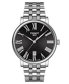 Men's Swiss Carson Premium Stainless Steel Bracelet Watch 40mm