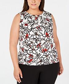 Plus Size Floral-Print Top