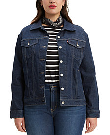 Levi's® Trendy Plus Size  Trucker Denim Jacket