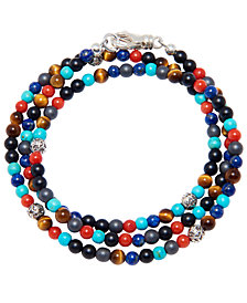 Nialaya The Mykonos Collection - Turquoise, Red Glass Beads, Blue Lapis, Hematite and Onyx