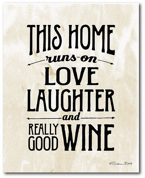"""Courtside Market Love, Laughter and Wine 16"""" x 20"""" Gallery-Wrapped Canvas Wall Art"""