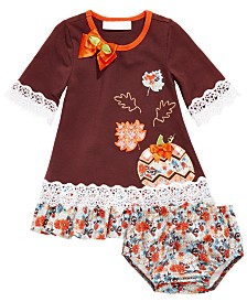 Bonnie Baby Baby Girls Harvest Pumpkin Dress
