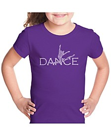 Girl's Word Art T-Shirt - Dancer
