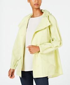 Eileen Fisher Hooded Shirttail Coat, Regular & Petite