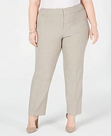 Plus Size Melange Slim Pants