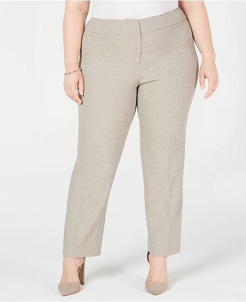 Kasper Plus Size Melange Slim Pants