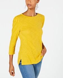 I.N.C. Puff-Sleeve Top, Created for Macy's