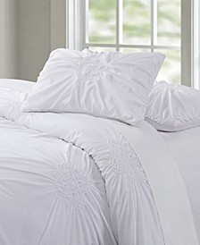 Christian Siriano Georgia Rouched 3 Piece King Comforter Set