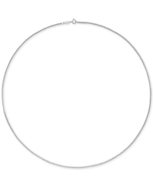 """Wheat Link 18"""" Chain Necklace in 18k White Gold or 18k Rose Gold"""