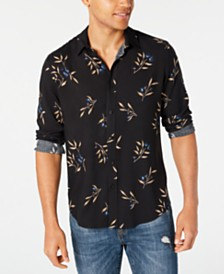American Rag Men's Tossed Painted Floral Shirt, Created for Macy's