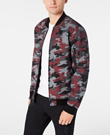 American Rag Men's Frankie Camo Bomber Jacket, Created for Macy's