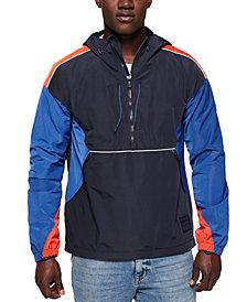 Superdry Men's Cagoule Colorblocked Half-Zip Hoodie
