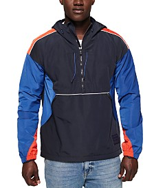 Superdry Men's Cagoule Colorblocked Half-Zip Hoodie