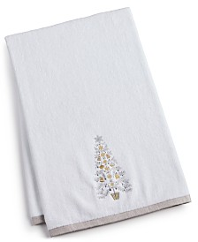 Martha Stewart Collection Silver Tree Bath Towel, Created for Macy's